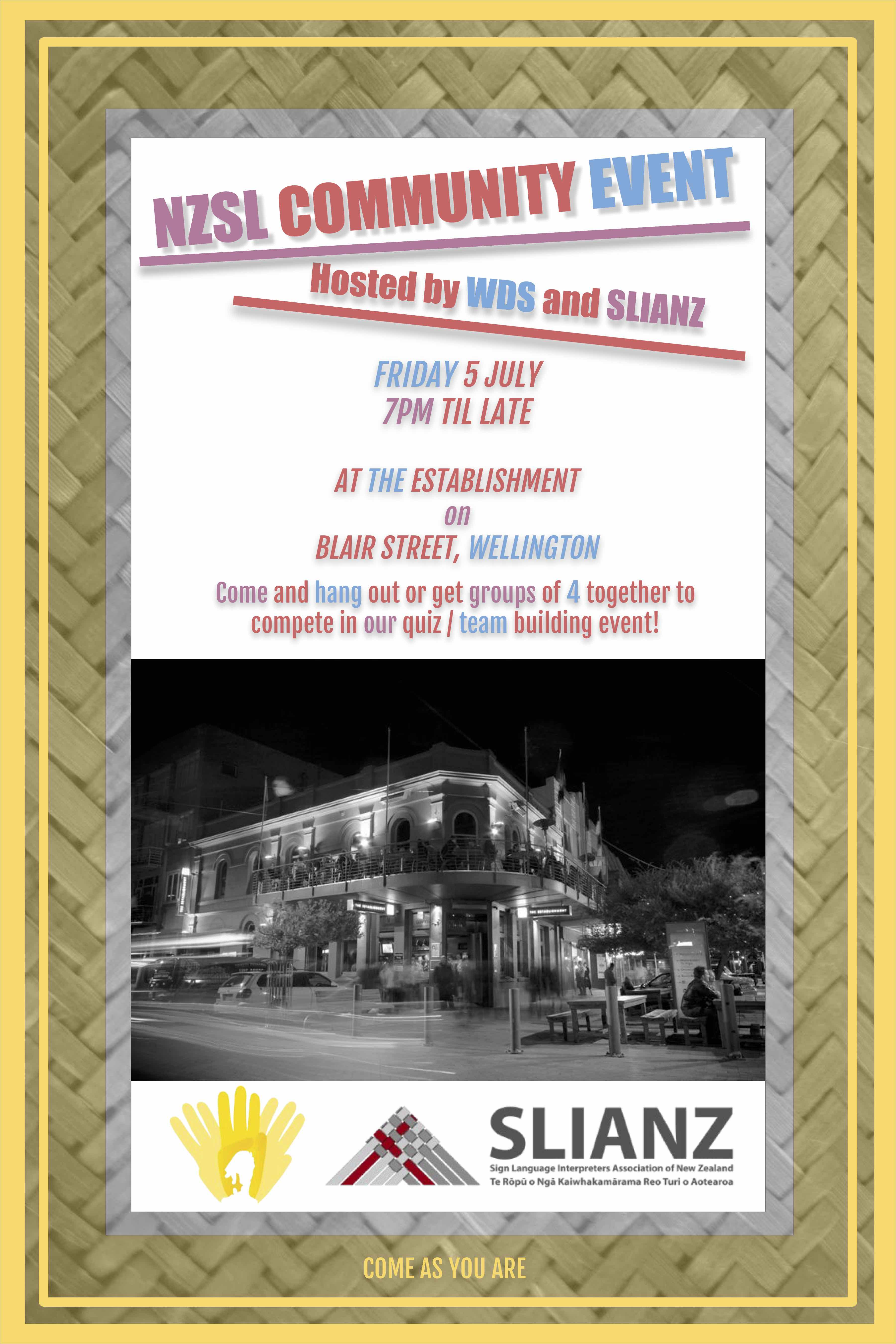 SLIANZ WDS event flyer